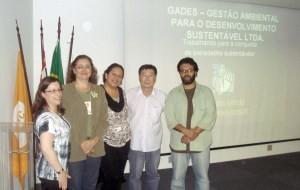 Professora Tânia, Professora Rosely, Raquel, Minoru e Alexandre