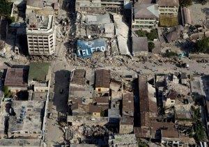 Foto aérea do Terremoto. Foto: Divulgação
