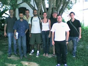 Membros da ANAGEA com alunos do curso