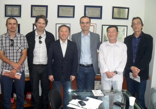 Gerson Eli Fernandes, Juliano Jorge Cucolo, deputado federal Walter Ihoshi, Alexandre Robim, Minoru Furuya e Léo Urbini
